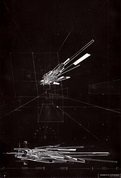 visicert: Gordon Yung - Proximity + Architecture, drawing of physical wire model.