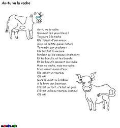 mon poème de vache - le bac à sable de l'éveil ...