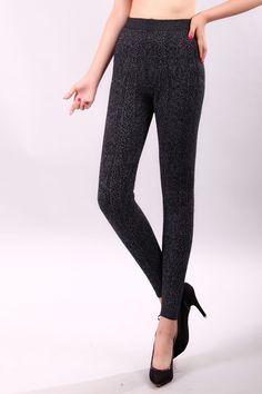 91e9e6e0451 Aliexpress.com   Buy thermowear Cashmere Skinny leggings Women leopard warm underwear  Wool Warm pants womens slimming long pant dames kleding from Reliable ...