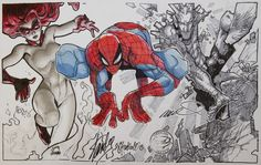 a Spider-Man and his Amazing Friends Jam commission!, RyanStegman.Tumblr.com drew Firestar, Humberto Ramos drew Spider-Man, and Chris Bachalo drew Iceman. Stan Lee also signed the completed image. Pretty cool.