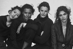 The #GiorgioArmani New Normal #fw16 advertising campaign lensed by Peter Lindbergh featuring Amanda Murphy, Liya Kebede, Elisa Sednaoui and Liu Wen. #GANewNormal