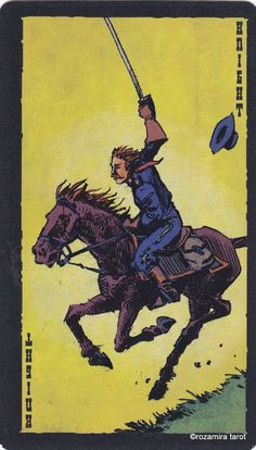 Knight of Swords - The Prairie Tarot by Robin Ator