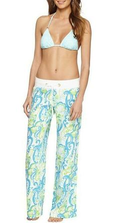 Lilly Pulitzer Linen Beach Pant in Crystal Coast
