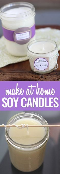 The best DIY projects & DIY ideas and tutorials: sewing, paper craft, DIY. Diy Candles Ideas & Wax melts DIY Soy Candles- Super Easy and Crafty -Read Homemade Soy Candles, Soy Wax Candles, Candle Wax, Scented Candles, Homemade Gifts, Diy Candles Easy, Yankee Candles, Diy Candles In Jars, Diy Candles Natural