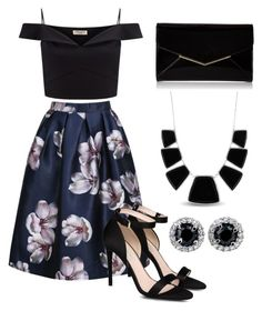 """""""Untitled #1297"""" by wikiheart ❤ liked on Polyvore featuring Lipsy, STELLA McCARTNEY, Furla and Karen Kane"""
