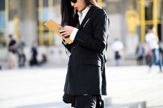 On the Streets of Paris Fashion Week Spring 2015 - Paris Fashion Week Spring 2015 Day 3-Wmag