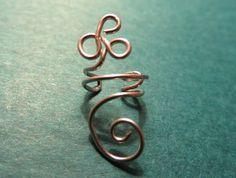 Silver Wire Ear Cuff / Ear Cuff / Silver Wire Ear Wrap / No Pierce Ear Cuff by DesignsbyGypsySoul on Etsy