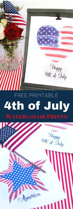 Free Printable 4th of July Patriotic Designs