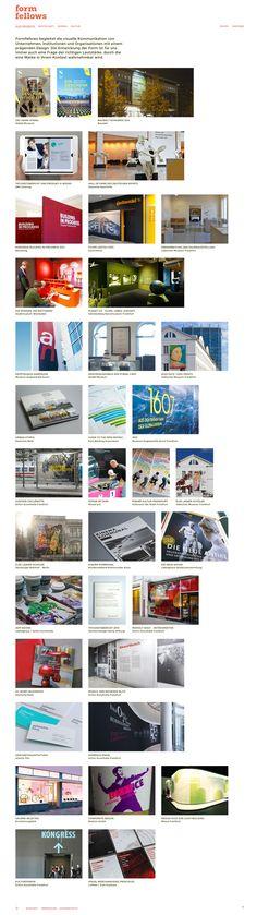 Formfellows begleitet die visuelle Kommunikation von Unternehmen, Institutionen und Organisationen mit einem prägenden Design. Desktop Screenshot, Website, Design, Visual Communication, Business, Design Comics