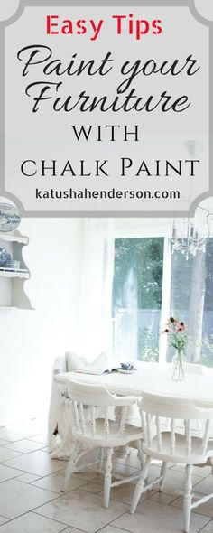 Easy Tips on how to Paint your furniture with chalk paint. Chalk Paint tips and tricks. How to distress furniture, h Shabby Chic Dining Room, Shabby Chic Kitchen, Shabby Chic Homes, Shabby Chic Decor, Dining Rooms, How To Shabby Chic A Table, How To Shabby Chic Furniture, Paint Furniture, Furniture Makeover
