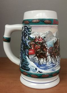 1992 Budweiser Holiday Stein Special Delivery with COA Ceramarte Anheuser Busch Beer Company, Special Delivery, Brewery, Beer Stein, Mugs, Tableware, Tapas, Holiday, Ebay