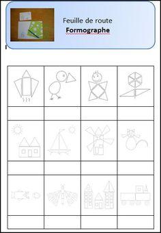 Formographe - L'école de Julie Kindergarten Art, Preschool, Numeracy, Montessori, Projects To Try, Julie, Classroom, Shapes, Kids