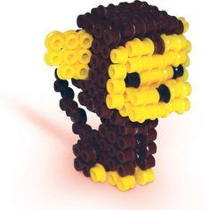 3D Monkey perler beads by sescreative