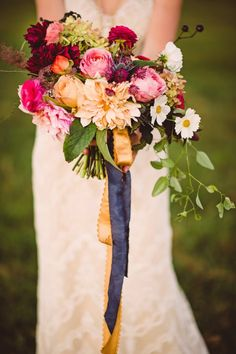 Intimate Wedding With Antique Decor and Earthy Florals via Belles and Bubbles. View More: http://crystalstokes.pass.us/holly-corey-shoot