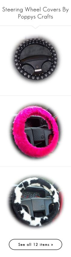 Steering Wheel Covers By Poppys Crafts by poppys-crafts on Polyvore featuring women's fashion, intimates and accessories