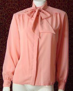 PENDLETON COUNTRY SOPHISTICATES VINTAGE pink long sleeve blouse 10 (T40-02B7G) #Pendleton #Blouse #Career