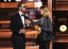 Faith Hill (R) presents Eric Church with the award for Album of the Year onstage at the 50th annual CMA Awards at the Bridgestone Arena on November 2, 2016 in Nashville, Tennessee.