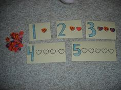 use heart erasers to fill in for counting
