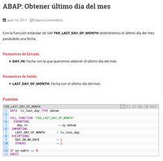 Manual SAP/ABAP para obtener el último día del mes con la función FKK_LAST_DAY_OF_MONTH