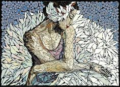 art in mosaic: Laura Harris_Portrait of a Ballerina