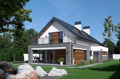 Bungalow House Plans, Dream House Plans, Modern Architecture House, Modern House Design, Future House, My House, House Extension Design, Beautiful House Plans, Architect House