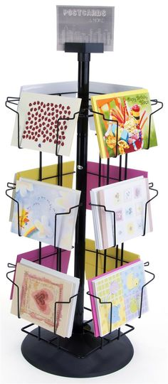 Retailers can display are beautiful note cards and post cards! #davidcrighton_art  Postcard Carousel   12 Horizontal Pockets
