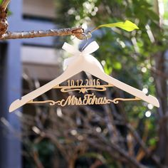 Aliexpress.com : Buy Custom wedding hangers/ wedding dress hanger with name and date/Bridal  shower hanger/Bridesmaid gift from Reliable hanger car suppliers on Paperpop stationary
