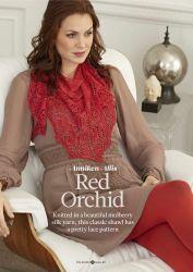 Вязаная шаль Red orchid