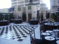 Black & White Wedding at The Oviatt Penthouse - downtown Los Angeles.