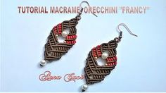 "Tutorial macramè orecchini ""Any""/Tutorial macramé earrings ""Any""/Diy tutorial - YouTube"