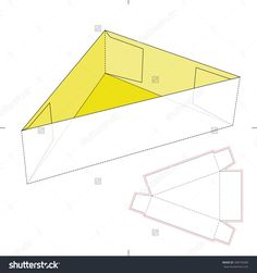 Triangle Tray With Diecut Layout Stock Vector Illustration 188795090 : Shutterstock