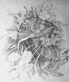 Kết quả hình ảnh cho arowana tattoo