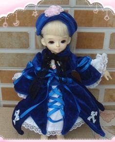 67.70$  Buy here - http://ali5a2.worldwells.pw/go.php?t=32674072290 - Saint Valentine's Day BJD YOSD 1/6 Rozen maiden mercury lamp, blue suit