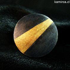 Kamirca-Karina Miranda_Joyas de Autor- Kum Boo _ Anillo plata 950 + oro 24k