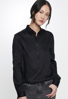 Satin Blouses, Elegant, Long Sleeve, Sleeves, Outfits, Shopping, Tops, Inspiration, Fashion