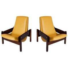 """Rare Pair of """"Vronka"""" Chair by Sergio Rodrigues   From a unique collection of antique and modern armchairs at https://www.1stdibs.com/furniture/seating/armchairs/"""
