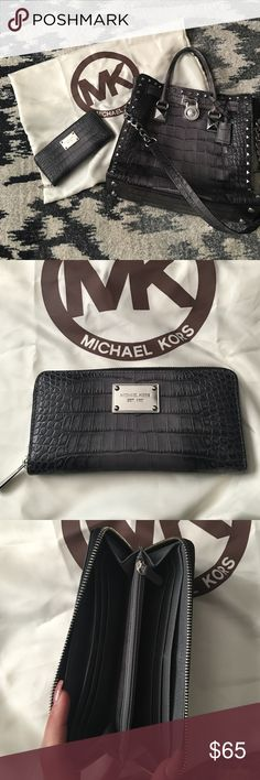 Micheal Kors alligator wallet Matches purse • used twice MICHAEL Michael Kors Bags Wallets