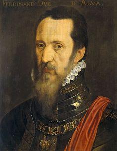 Schilderij van de hertog van Alva. Filips II stuurde, na de Beeldenstorm, in 1566 de hertog van Alva (1507-1582) naar de Nederlanden. Alva moest daar orde op zaken gaan stellen en iedereen straffen die ook maar iets met de Beeldenstorm te maken heeft gehad. Hiertoe stelde Alva de 'Raad van Beroerten' in. Deze raad, die in de volksmond ook wel de 'Bloedraad' genoemd werd, zorgde ervoor dat ruim elfduizend mensen werden verbannen en duizenden terecht werden gesteld.