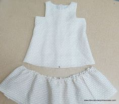 www.decosturasyotrascosas.com Sewing Patterns For Kids, Sewing For Kids, Clothing Patterns, Toddler Dress, Baby Dress, Little Girl Dresses, Girls Dresses, Girl Dress Patterns, Simple Dresses