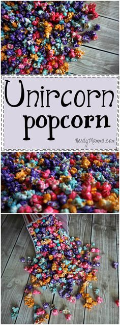 This recipe for Unicorn Popcorn (or rainbow popcorn–whatever) is so easy! I lov… This recipe for Unicorn Popcorn (or rainbow popcorn–whatever) is so easy! I love the idea…I can't wait to make it for my kids! Popcorn Snacks, Popcorn Balls, Flavored Popcorn, Gourmet Popcorn, Popcorn Flavours, Oreo Popcorn, Sugar Popcorn, Colored Popcorn, Homemade Popcorn
