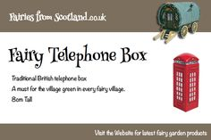 No mobile phone is small enough for fairies.. yet! But they do get to use the classic red phone box    #fairygarden