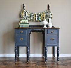 I am just falling more and more in love with Miss Mustard Seed Milk Paint, so I thought I would share some of my recent MMS Milk Paint. Milk Paint Furniture, Blue Painted Furniture, Mirrored Bedroom Furniture, Shabby Chic Furniture, Furniture Projects, Furniture Makeover, Vintage Furniture, Diy Furniture, Painted Desks