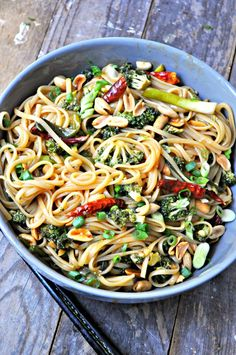 Vegan Kung Pao Broccoli Lo Mein - Rabbit and Wolves