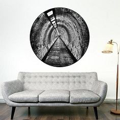 Tunnel Wall Mural Decal