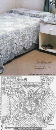 Crochet lace tablecloth square with flower and diamonds motif. Many beautiful filet crochet valances, curtains, doilies etc. Crochet Bedspread Pattern, Crochet Motifs, Crochet Squares, Thread Crochet, Crochet Blanket Patterns, Crochet Granny, Filet Crochet, Irish Crochet, Crochet Doilies