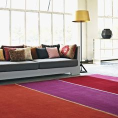 Wool is stain resistant, isolating and offers a unique strand structure. #InteriorDesign #HomeDecor