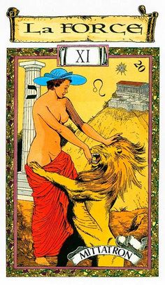 Strength - Tarot des Templiers by Jean-Louis Victor, Willy Vassaux