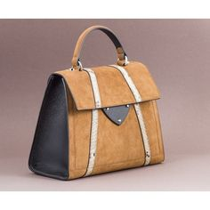 Coccinelle - B14 suede handbag ($390) ❤ liked on Polyvore featuring bags, handbags, beige, coccinelle handbags, handbag purse, beige handbags, coccinelle bags and coccinelle