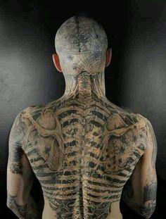 Zombie Boy, Rick Genest, anatomy tattoo, full body ink, skeleton tattoo