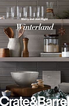 Find all you need to make this holiday season merry and just right at Crate and Barrel.